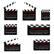 Royalty-Free Stock Vector Image: Cinemas clapper