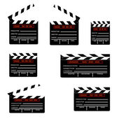 Cinemas clapper — Stock Vector