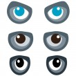 Different types of eyes - Stock Vector