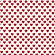 Red hearts on the white backgound - Stock Vector