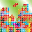 Stock Vector: Color blocks, tetris