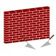 Stock Vector: Bricks wall