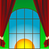 Window in the room — Stock Vector