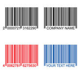 Colored barcodes — Stok Vektör