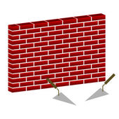 Bricks wall — Stock Vector