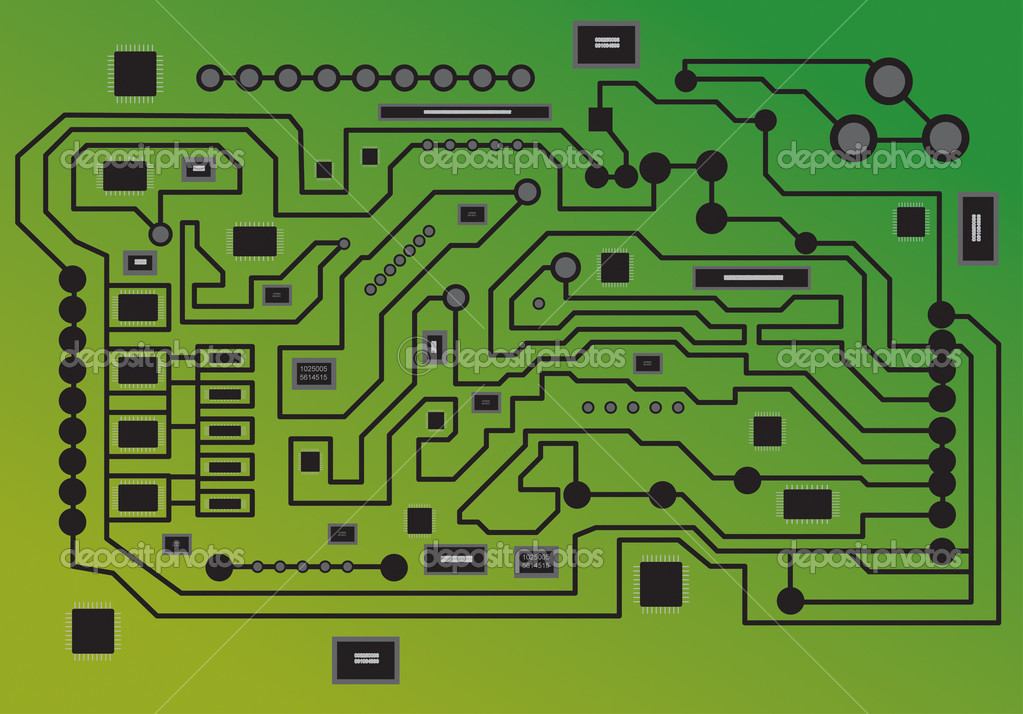 Electronics, micro — Stock Vector #1091880