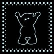 Royalty-Free Stock Immagine Vettoriale: Teddy made of many diamonds