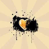 Heart. Vector illustration. — Stock Vector