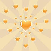 Many hearts. Vector illustration — Stock Vector