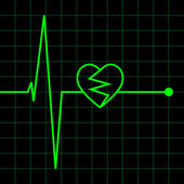 Electro Cardiogram illustration — Vetorial Stock