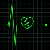 Electro Cardiogram illustration — Stock Vector