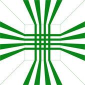 Fundo verde. ilustração vetorial. — Vetor de Stock
