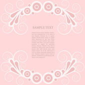 Romantic French retro banner in pink (ve — Vector de stock
