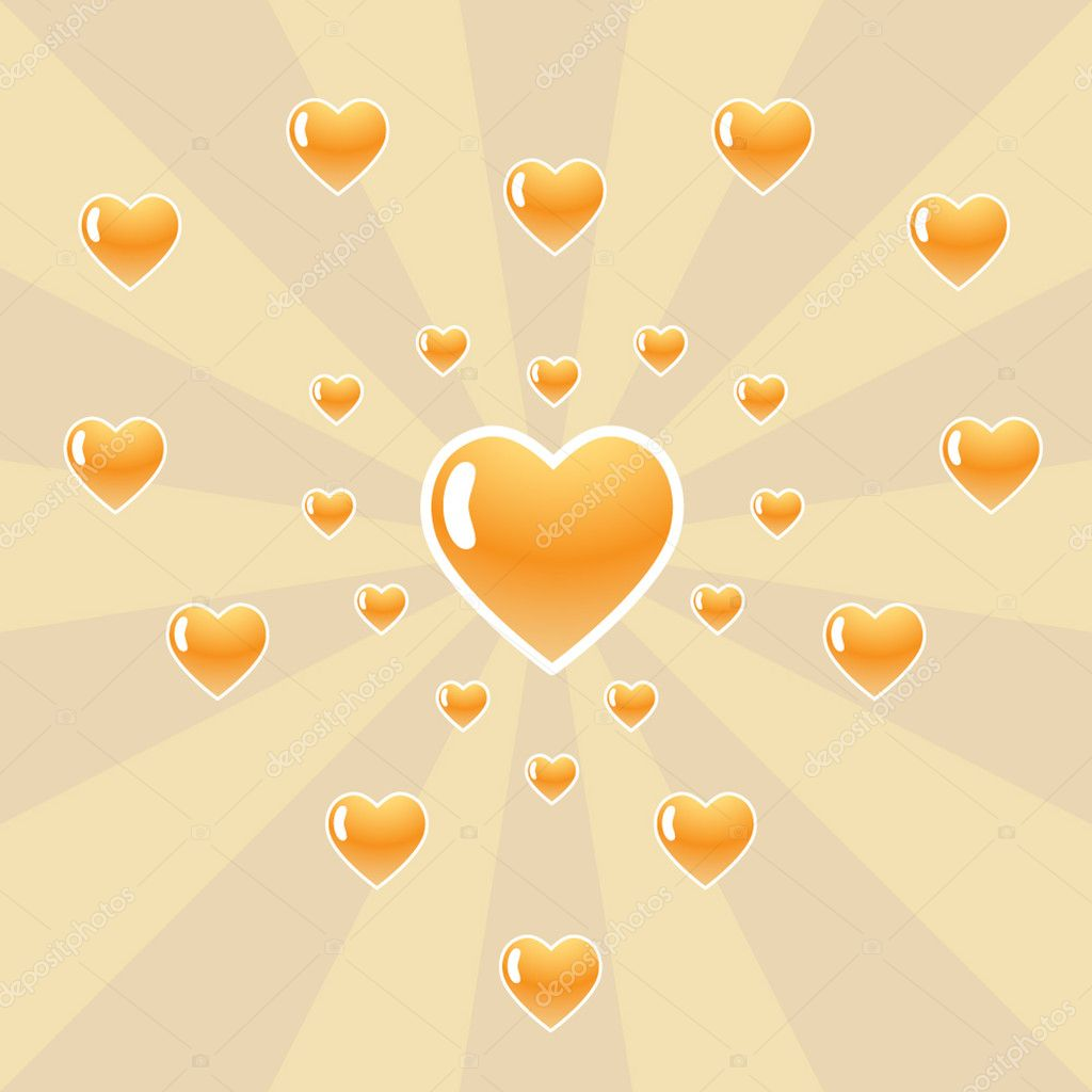 Many hearts. Vector illustration. — Stock Vector #1298287