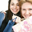 Two woman with shopping bag — Foto de Stock