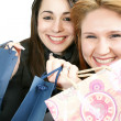 Royalty-Free Stock Photo: Two woman with shopping bag