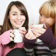 Two lady  with  cup — Stock Photo