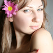 Woman with flower — Stock Photo #1169997