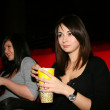 Girls are in the cinema — Stock Photo