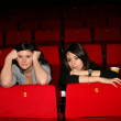 Girls are in the cinema — Stock Photo #1170385