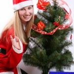 Christmas woman — Stock Photo