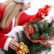 Christmas woman — Stock Photo #1248566