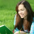 Girl reads the book — Stock Photo