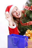 Weihnachtsfrau — Stockfoto
