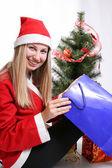 Jul kvinna — Stockfoto