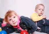 Bruder und Schwester — Stockfoto