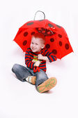 Child with umbrella — Stock Photo