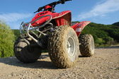 ATV in the mud and dust — Stock Photo
