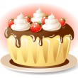 Royalty-Free Stock Vector Image: Tasty cake