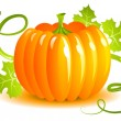 Stock Vector: Pumpkin