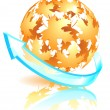 Royalty-Free Stock Vector Image: Autumn sphere