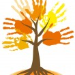 Royalty-Free Stock Imagen vectorial: Falling tree