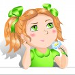 Little girl — Stock Vector #1086846