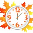 Autumn clock — Stock Vector