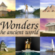 Stock Photo: Seven wonders of ancient world