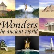 Seven wonders of the ancient world - Stock Photo