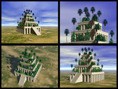 Hanging Gardens of Babylon — Stock Photo