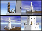 Lighthouse of Alexandria — Stock Photo