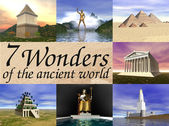 Seven wonders of the ancient world — Stock Photo