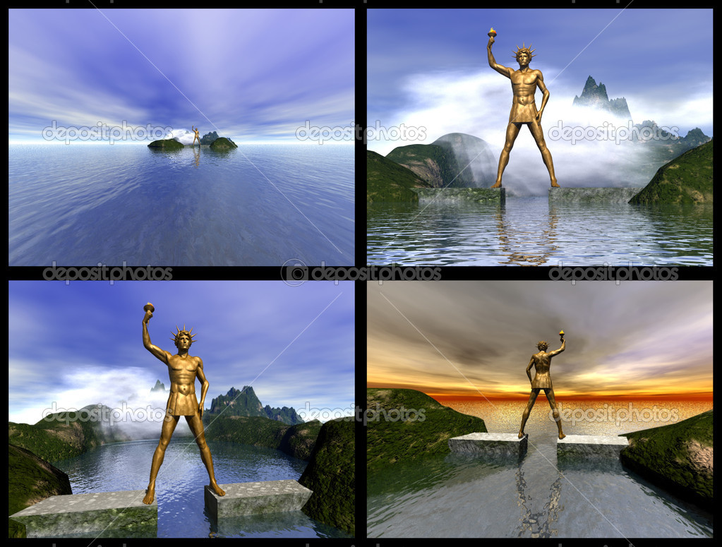 Colossus of Rhodes. 3D reconstructions — Stock Photo #1185561
