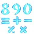 Blue shiny alphabet. Digits (part2) — Stock Vector #1184989