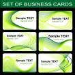 Royalty-Free Stock Imagen vectorial: Set of business cards