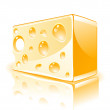 Stock Vector: Piece of cheese