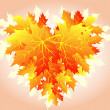 Royalty-Free Stock Vector Image: Heart of autumn