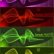 Vector de stock : Set of backgrounds