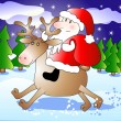 Santa riding deer — Stock Vector #1185200